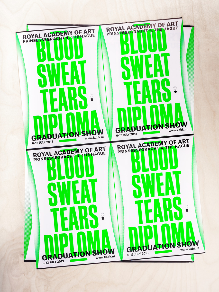 Blood sweat tears diploma   poster 2xa2 catalogue 2x