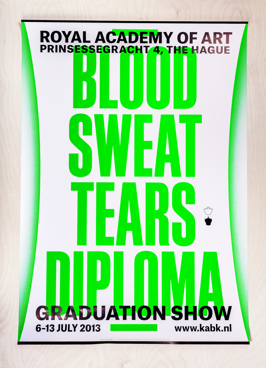 Blood sweat tears diploma   poster a0 catalogue 2x