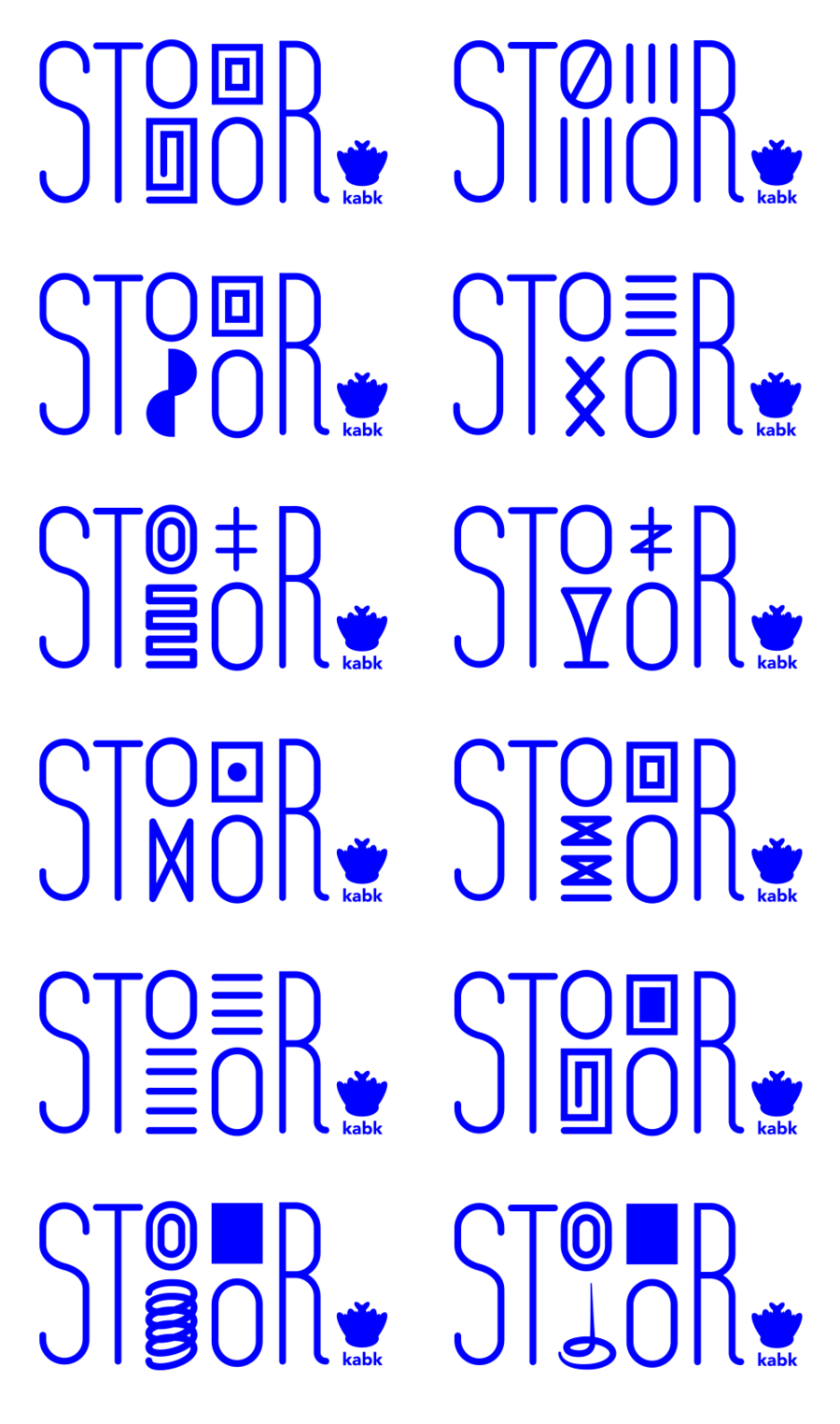 Stoor logo sheet catalogue 2x